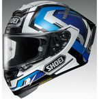 White/Blue X-Fourteen Brink TC-2 Helmet - 0104-1902-06