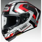 Silver/Black/Red X-Fourteen Brink TC-5 Helmet - 0104-1905-06