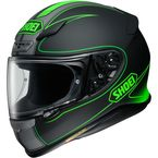 Matte Black/Green RF-1200 Flagger TC-4 Helmet - 0109-3104-06