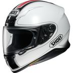 White/Black/Red RF-1200 Flagger TC-6 Helmet - 0109-3106-06