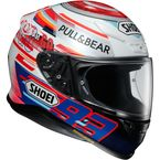 Red/White/Blue RF-1200 Marquez Power Up TC-1 Helmet - 0109-3201-06