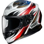 White/Red RF-1200 Incision TC-1 Helmet  - 0109-3401-06