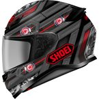 Matte Gray/Red/Black RF-1200 Trooper TC-1 Helmet - 0109-3501-06