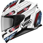 White/Red/Black RF-1200 Trooper TC-10 Helmet - 0109-3510-08