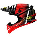 Red/Black/White VFX-EVO Blazon TC-1 Helmet - 0146-1201-06