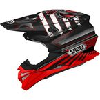 Black/Red/White VFX-EVO Grant 3 TC-1 Helmet - 0146-1301-06