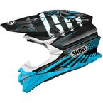 Black/Blue/White VFX-EVO Grant 3 TC-2 Helmet - 0146-1302-06