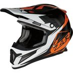 Orange Yellow Rise Ascend Helmet - 0110-5560