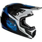 Youth Blue Rise Ascend Helmet - 0111-1140