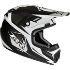 Youth Matte Black/White Rise Ascend Helmet - 0111-1143