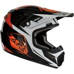 Youth Orange Rise Ascend Helmet - 0111-1150
