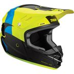 Youth Black/Acid Sector Shear Helmet - 0111-1167
