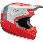 Youth Red/Light Gray Sector Shear Helmet  - 0111-1173
