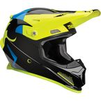 Black/Acid Sector Shear Helmet - 0110-5589