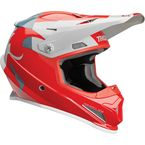 Red/Light Gray Sector Shear Helmet - 0110-5601