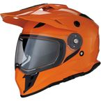 Orange Range Snow Helmet w/Dual Lens Shield - 0121-1125