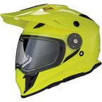 Hi-Viz Yellow Range Snow Helmet w/Dual Lens Shield - 0121-1130