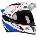White/Blue Krios Karbon Adventure Valiance Helmet - 3510-000-140-006