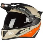 Sand/Orange Krios Karbon Adventure Valiance Helmet - 3510-000-140-007