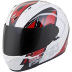 White/Red EXO-R320 Endeavor Helmet - 32-0605