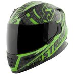 Green/Black Sure Shot SS1600 Helmet - 1111-0611-5753
