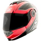 Red/Black Split Decision SS1710 Modular Helmet - 1111-0612-6054