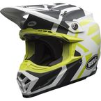 Matte White/Black/Fluorescent Green Moto-9 District LE Helmet w/MIPS - 7096932