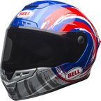 Blue/Red/Silver Star MIPS Brad Binder Replica LE Helmet - 7097537