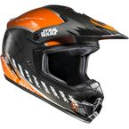 Semi-Flat Black/Orange Star Wars CS-MX 2 Rebel X-Wing MC-7 Helmet - 330-974