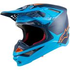 Black/Aqua/Fluorescent Orange Supertech M10 Carbon Meta Helmet - 83004191174LG
