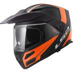 Matte Black/Gloss Hi-Vis Orange Metro V3 Rapid Modular Helmet - 324-2244