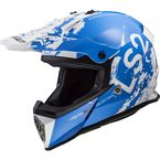Youth Blue/White Fast V2 Mini Spot Helmet - 437-7034