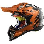 Black/Orange MX470 Subverter Emperor Helmet - 470-1142