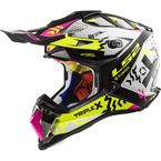 Black/White/Pink/Hi-Viz Yellow MX470 Subverter Triple X Helmet - 470-1154