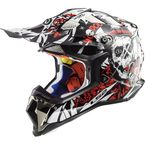 Black/White/Red MX470 Subverter Voodoo Helmet - 470-1164