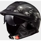 Matte Black Rebellion Bones Helmet - 590-1114