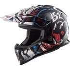 Youth Black/White/Red Fast V2 Mini Beast Helmet - 437-7044