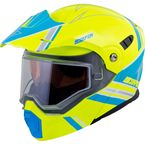 Hi-Viz/Blue EXO-AT950 Snow Helmet - 75-15113X