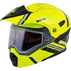 Hi-Viz/Black EXO-AT950 Snow Helmet - 75-1513L