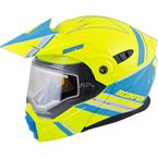 Hi-Viz/Blue EXO-AT950 Snow Helmet w/Electric Shield - 75-1517L