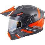 Orange/Gray EXO-AT950 Snow Helmet w/Electric Shield - 75-1516L