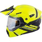 Hi-Viz/Black EXO-AT950 Snow Helmet w/Electric Shield - 75-1518L