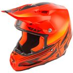 Orange/Black F2 Carbon Cold Weather Helmet - 73-4905L