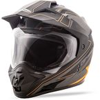 Matte Black/Charcoal/Hi-Vis Orange GM-11D Expedition Dual Sport Helmet - G5112696 TC-26