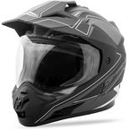 Matte Black/Dark Silver GM-11D Expedition Dual Sport Helmet - G5112456 TC-17