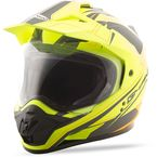 Matte Hi-Vis Yellow/Black GM-11D Expedition Dual Sport Helmet - G5112686 TC-24
