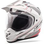 Matte White/Red GM-11D Expedition Dual Sport Helmet - G5112434 TC-15