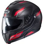 Semi-Flat Black/Red CL-Max 3 Flow MC-1SF Modular Helmet - 1012-714
