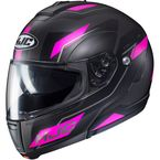 Semi-Flat Black/Pink CL-Max 3 Flow MC-8SF Modular Helmet - 1012-783