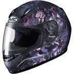 Youth Semi-Flat Black/Purple/Pink CL-Y Velva MC-5SF Helmet - 240-784